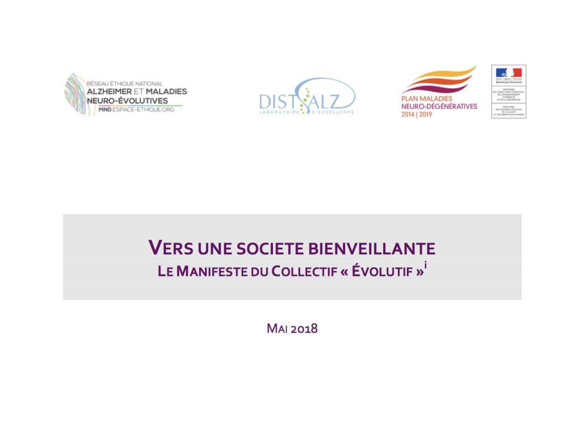 Vers une société bienveillante, le manifeste du collectif «évolutif»