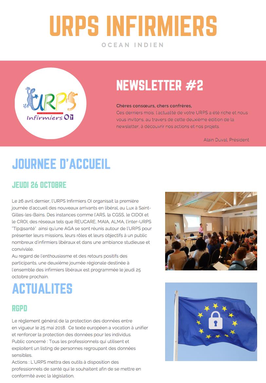La Newsletter#2 de l'URPS Infirmiers