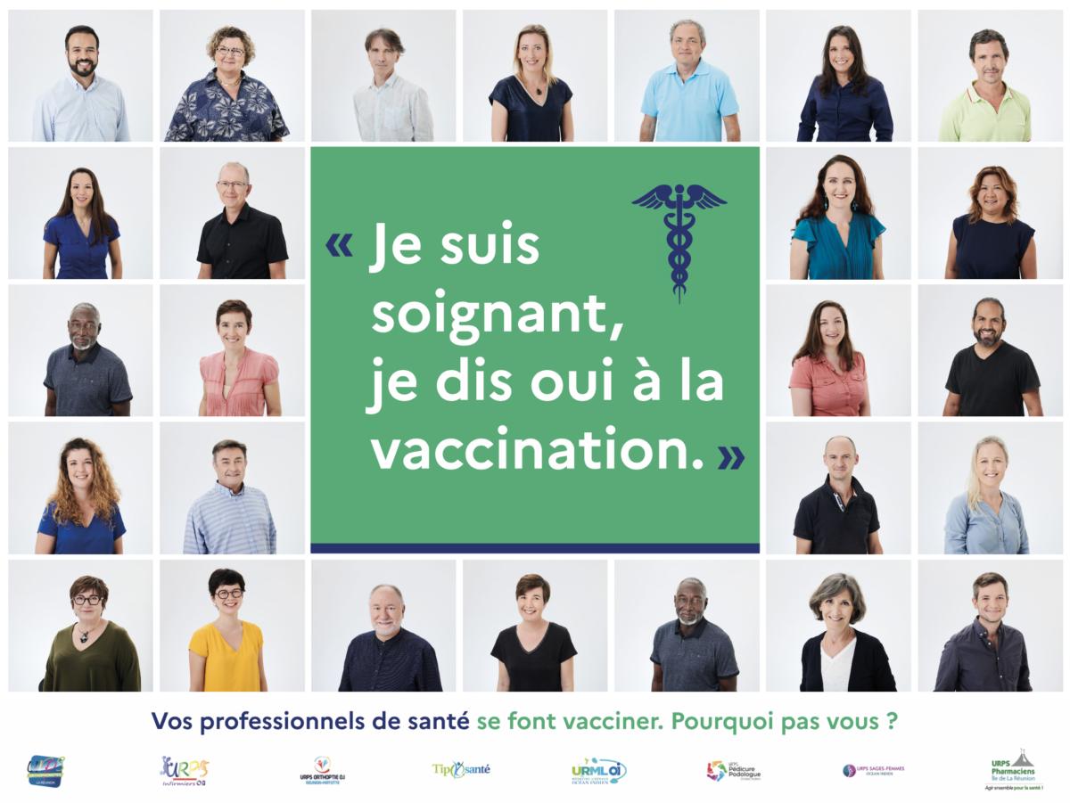 Campagne de communication : Je suis soignant, je dis oui à la vaccination !